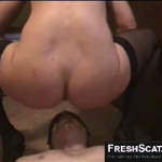 Human Toilet Eats And Drinks Scat And Piss From Mistress On Webcam