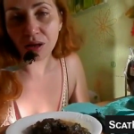 Sexy Girl Takes A Nice Shit On A Plate And Eats Some And Savors Every Bite